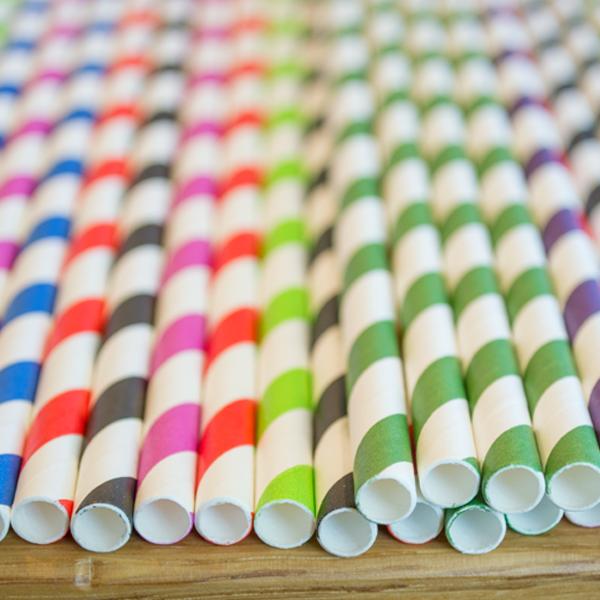 Хартиени сламки - 2500бр. 200мм Ф6 - Кашон